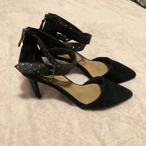 Joe's Jeans Suede Buckle Heels